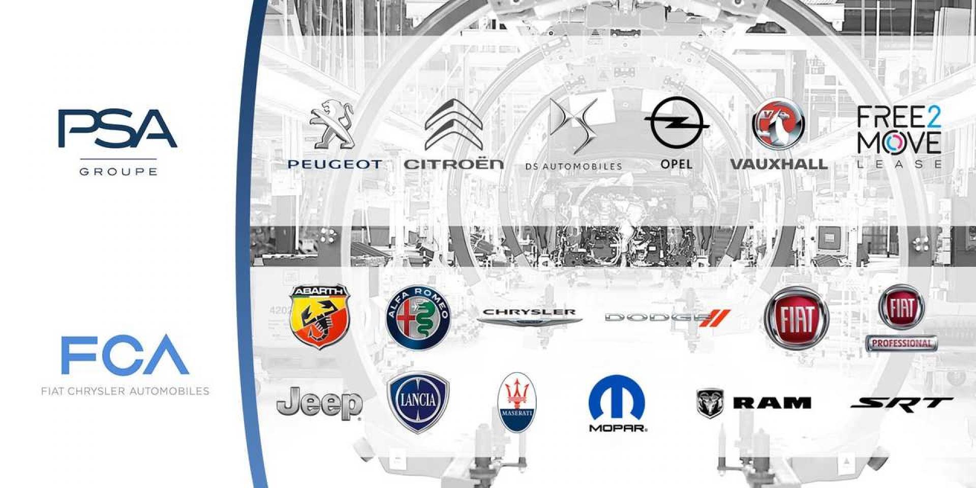 PSA-FCA合併後 13個品牌將全數保留!