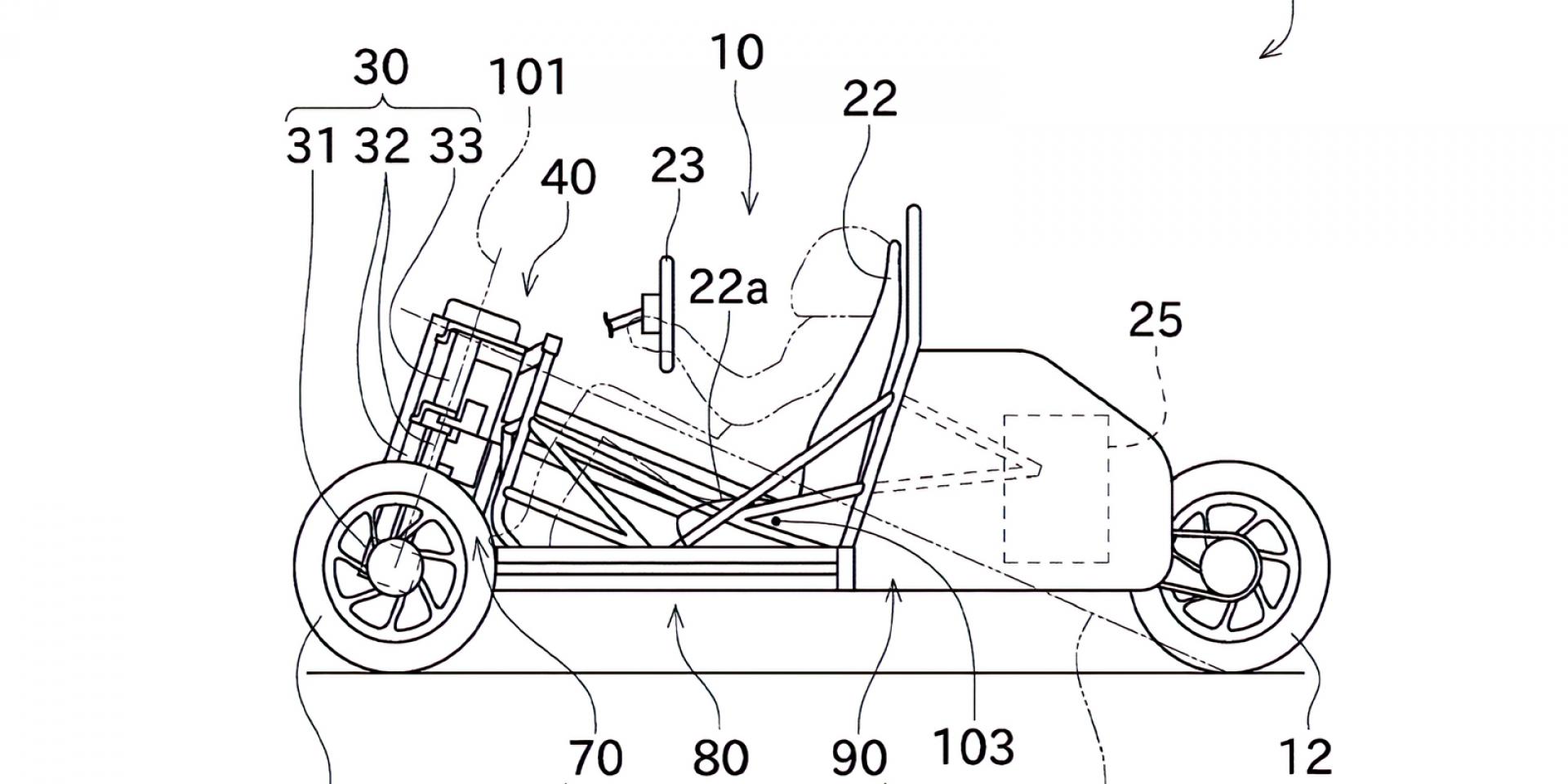 前四懸吊、傾斜車架?!KAWASAKI獨特三輪跑車專利曝光