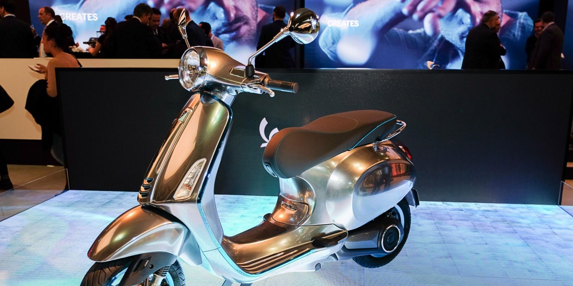 主推低功率、在家充電。Vespa Elettrica電動車22萬歐洲開賣