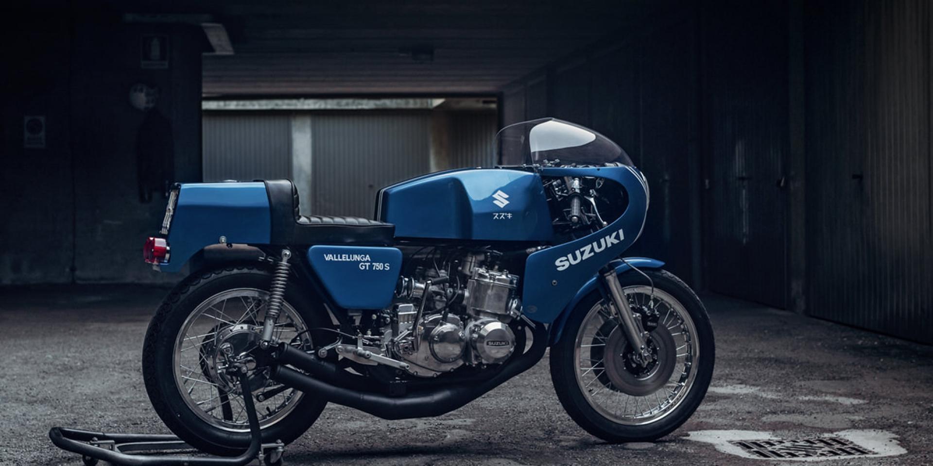 想回到過去,試著讓故事繼續 -  SUZUKI SAIAD GT750 S Vallelunga by  Piedmontese workshop