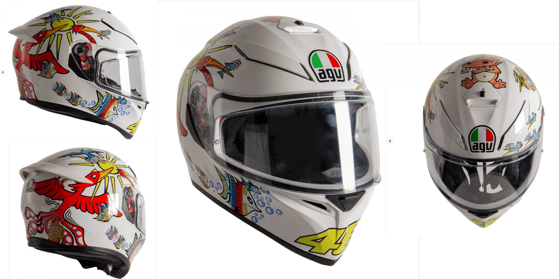 """Rossi粉絲照過來!AGV推出K3 SV-S """"White Zoo""""復刻帽"""