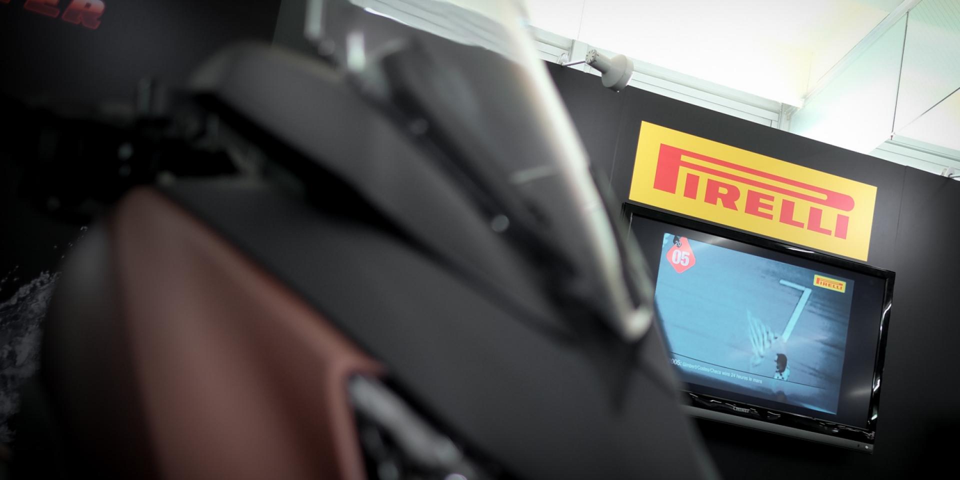 2017 國際車展。好運車業展出全新陣容,PIRELLI輪胎、SBS煞車來令片&TPMS、LUBRO安全帽連袂出擊