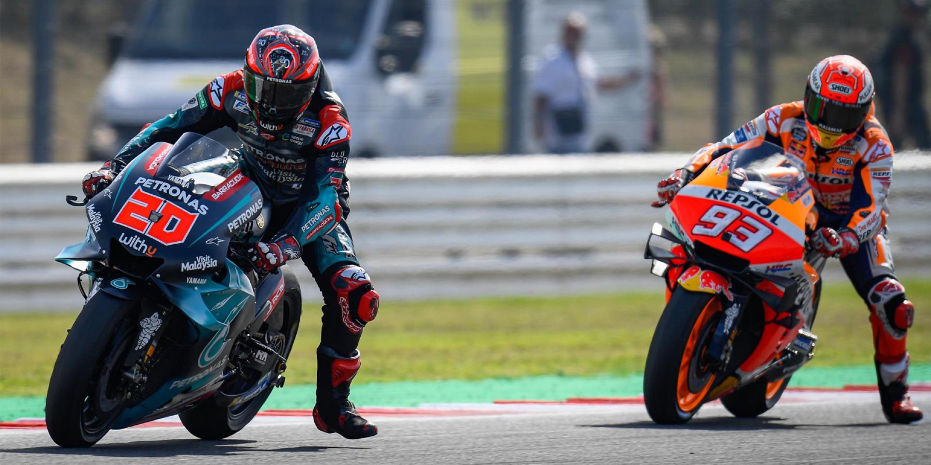 MotoGP賽道講堂|煞車技術的頂尖對決!Marquez與Quartararo的Misano對決分析。