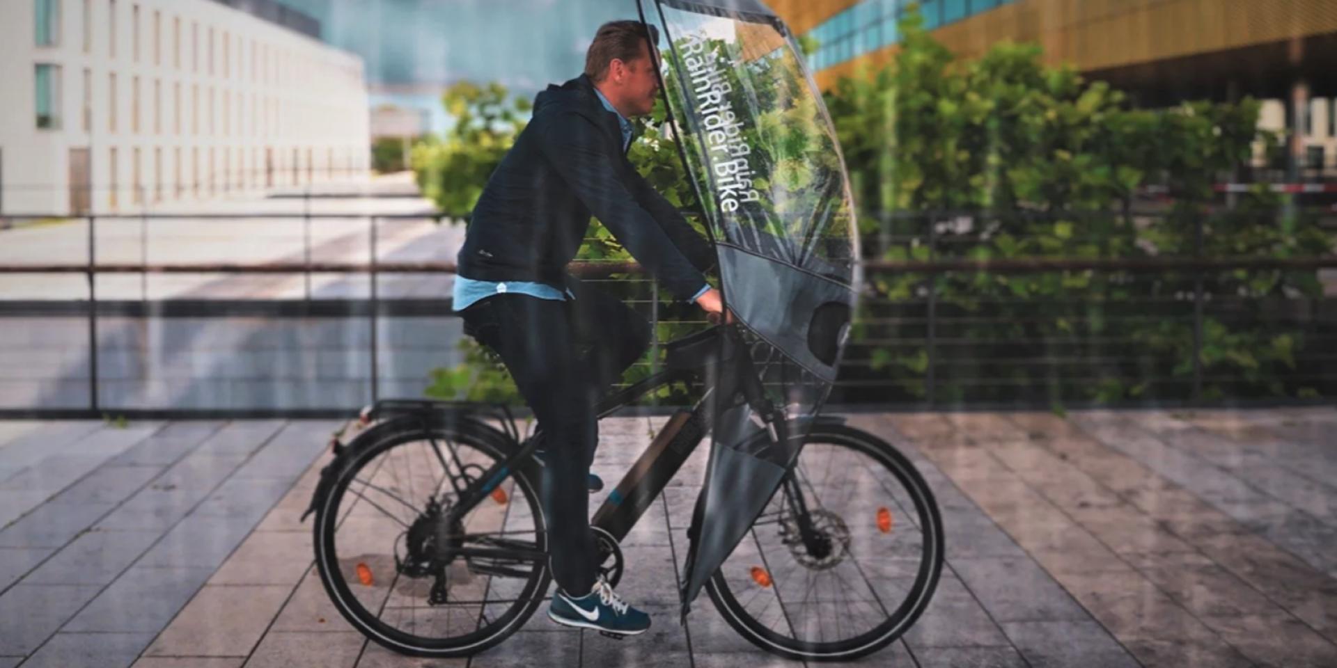 跟雨衣說掰掰!德國RainRider推出Softop自行車快拆遮雨篷
