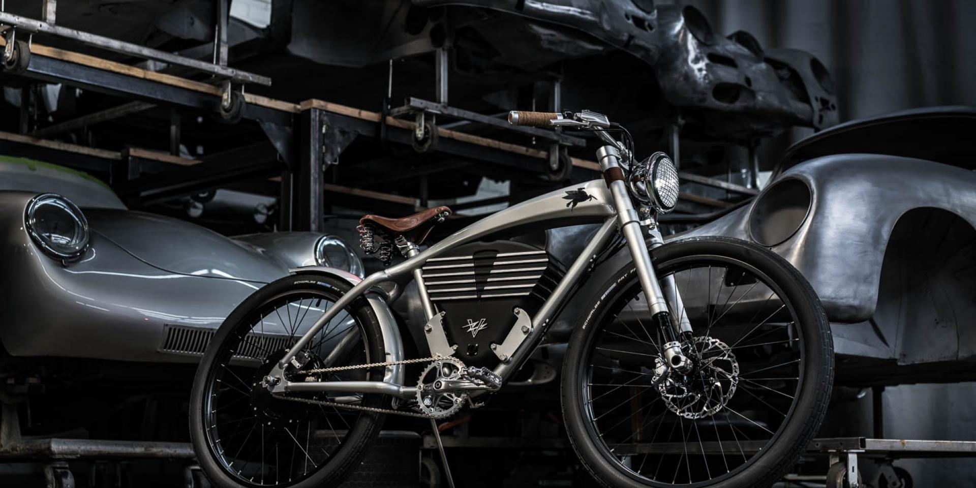 骨董保時捷的二輪化身。 EMORY Outlaw Tracker by VINTAGE ELECTRIC 電動腳踏車