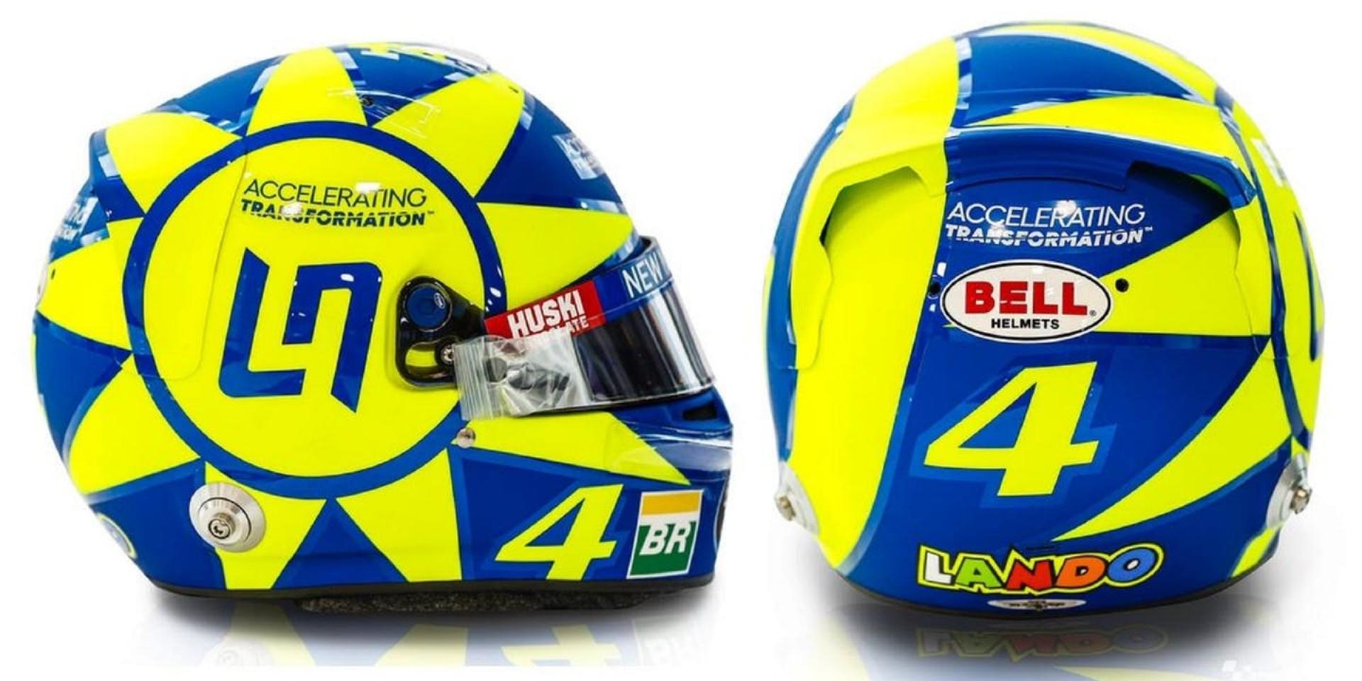 這不是仿冒,是致敬!F1車手Lando Norris義大利站換裝致敬偶像Valentino Rossi