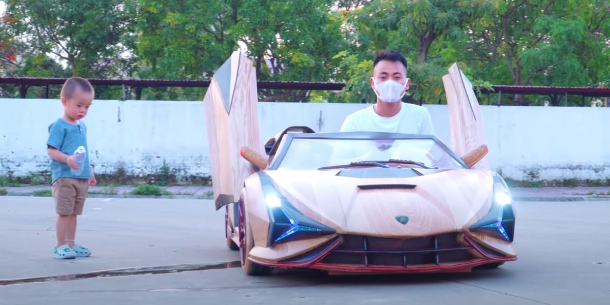 手作沒有極限!木造Lamborghini Sian有夠神!