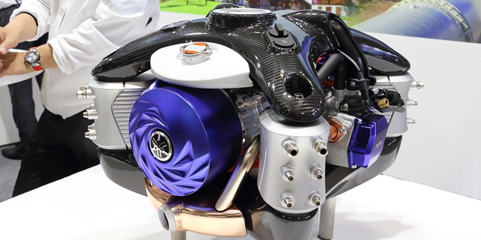 YAMAHA亮相無人機用水平對臥引擎發電機,未來有望運用在二輪車款上