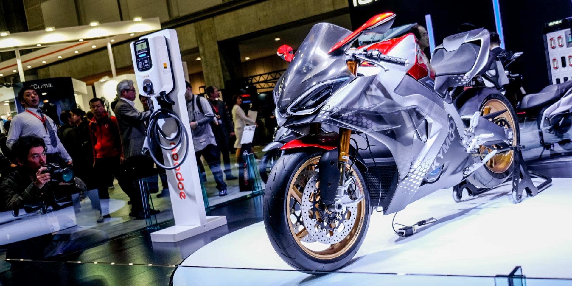 SuperNEX首度登陸日本、Noodoe EV OS充電服務發表,KYMCO 2019東京車展發表會