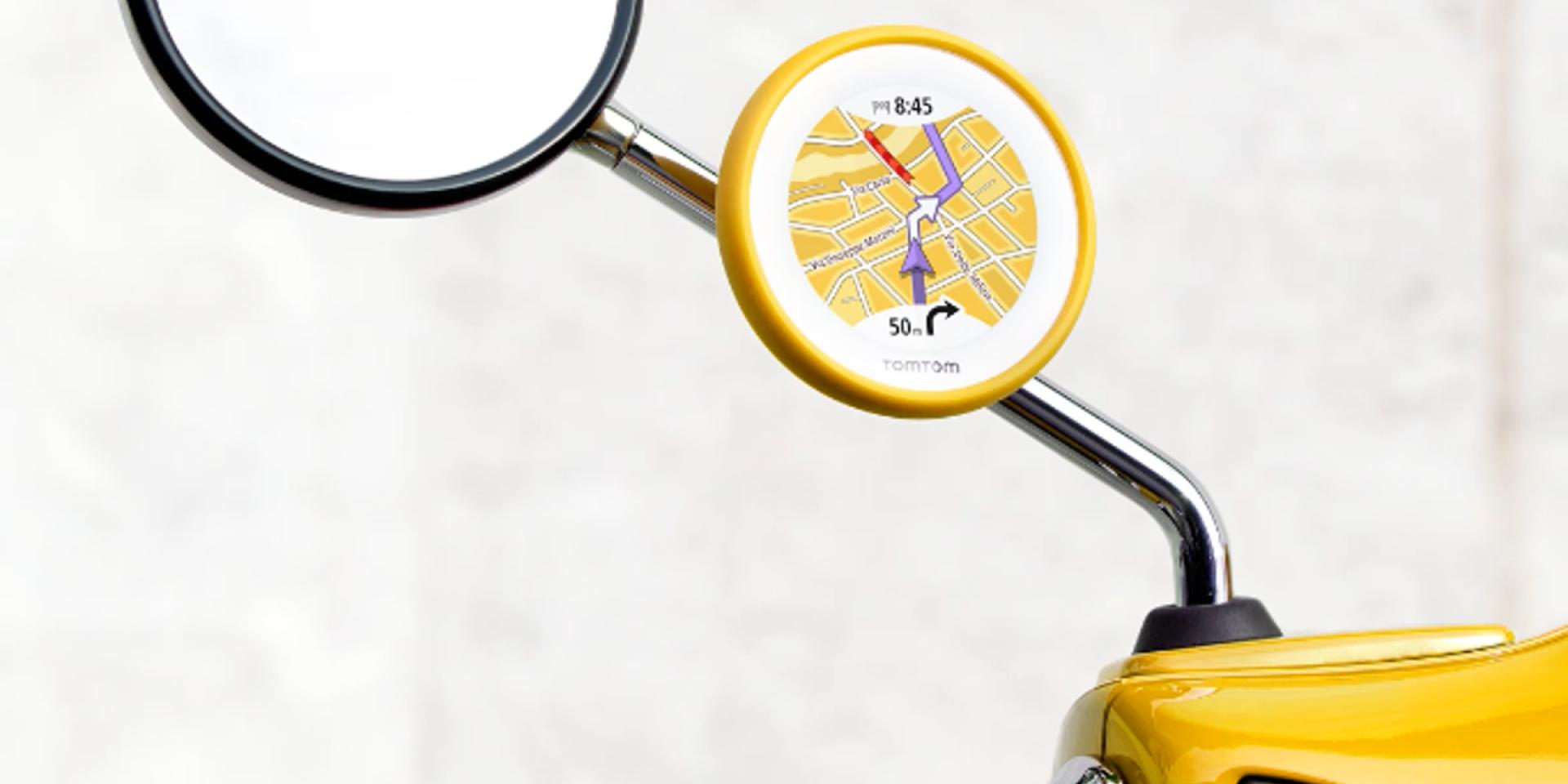 七色隨選速克達專用GPS。TomTom VIO