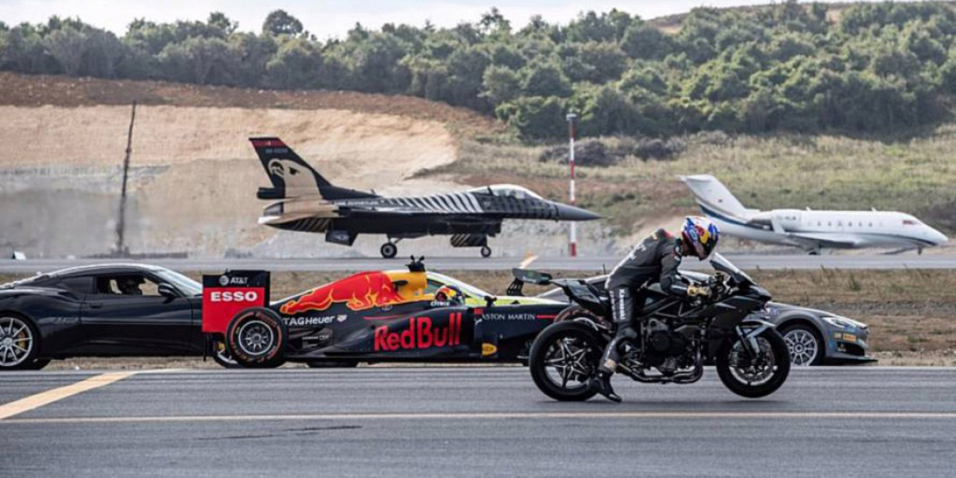 F1、H2R還有F16戰鬥機到底誰快?土耳其航空科技節測給你看!