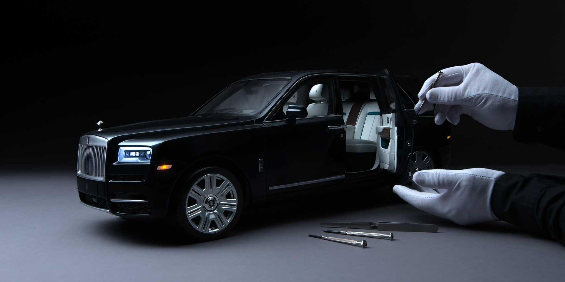 連模型都買不起!Rolls-Royce Cullinan 1:8訂製模型超精緻!