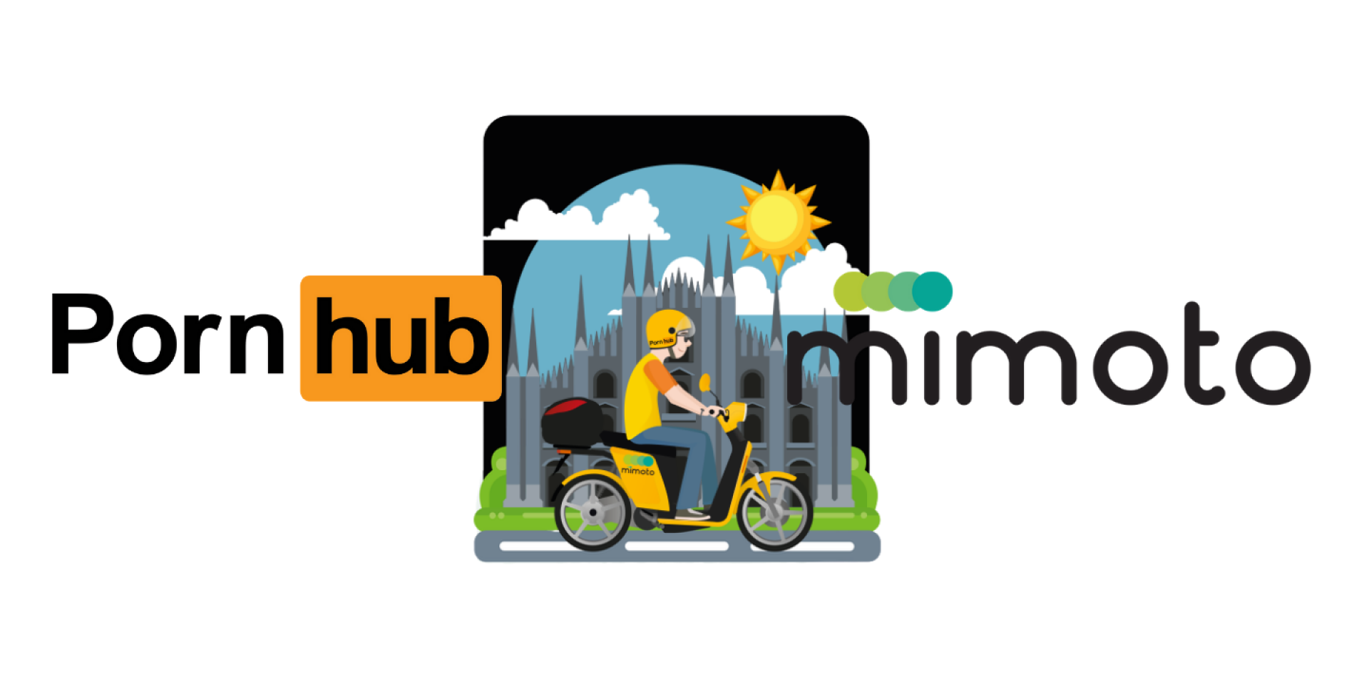 PornHub跨界合作MiMoto!提供民眾免費騎乘共享機車!