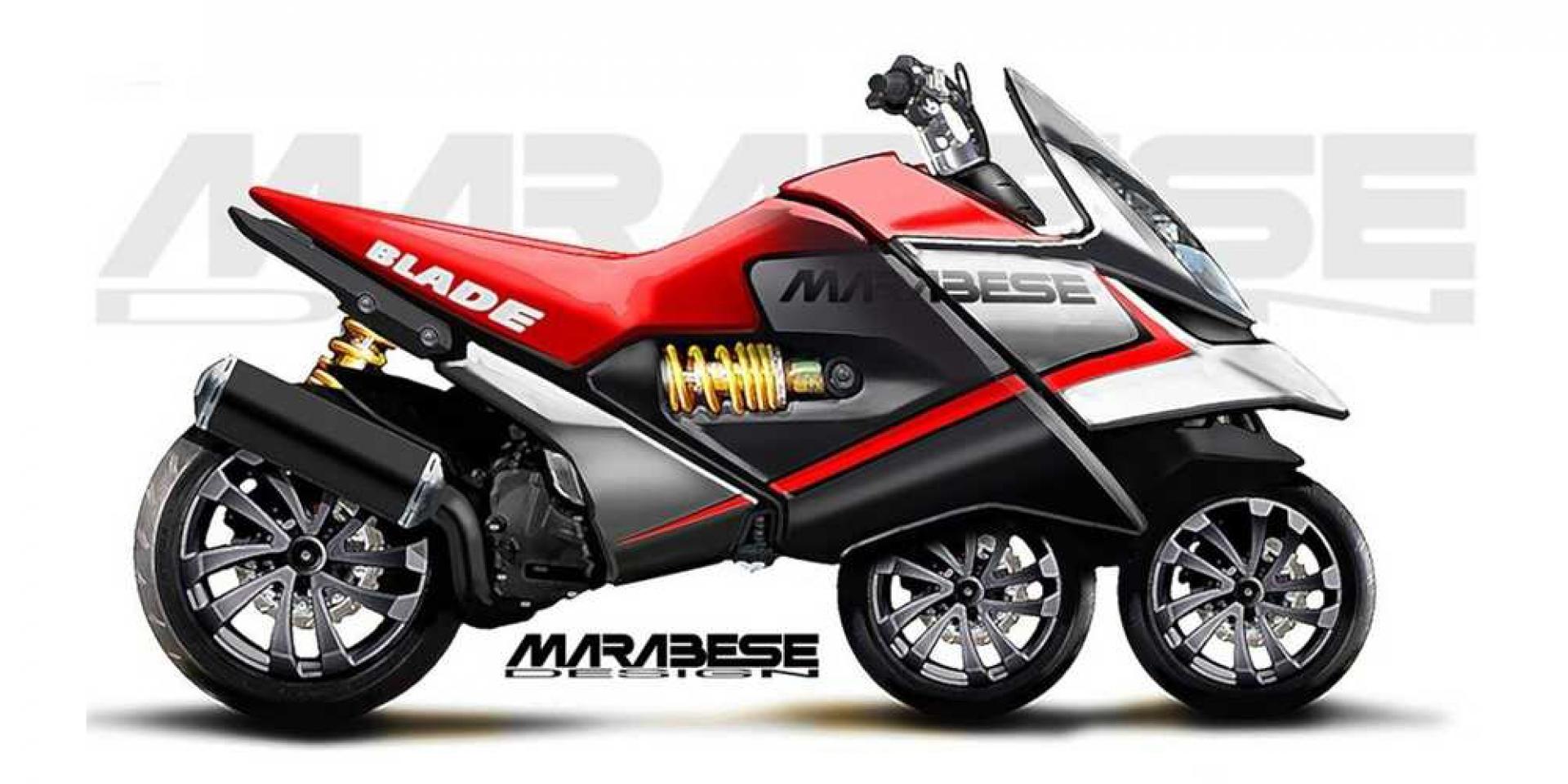 這個三輪車我不懂!Marabese Blade Bike採用直列的三輪設計!