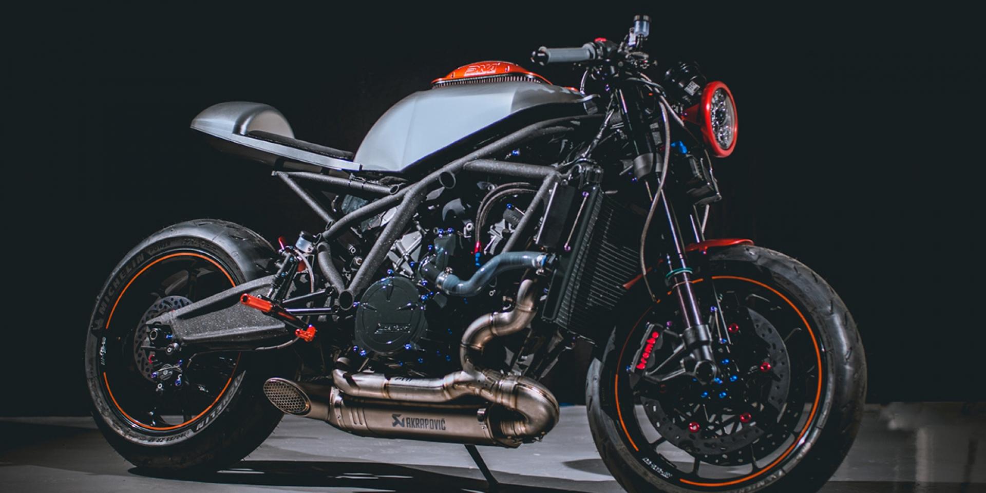 KTM也咖啡?沒看過了吧!KTM RC8 Cafe Racer By Nikolaidis'