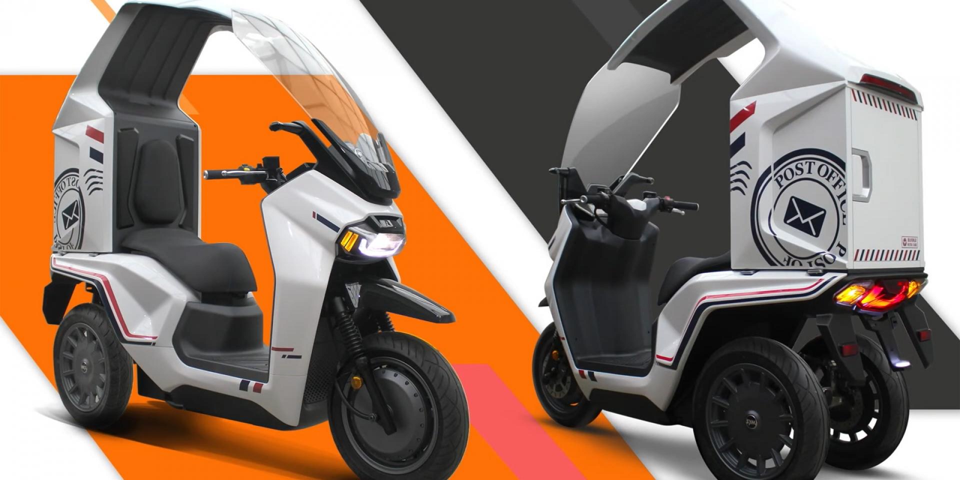 三輪、鋁電池、電子後視鏡!SYM EP3三輪電動概念車亮相