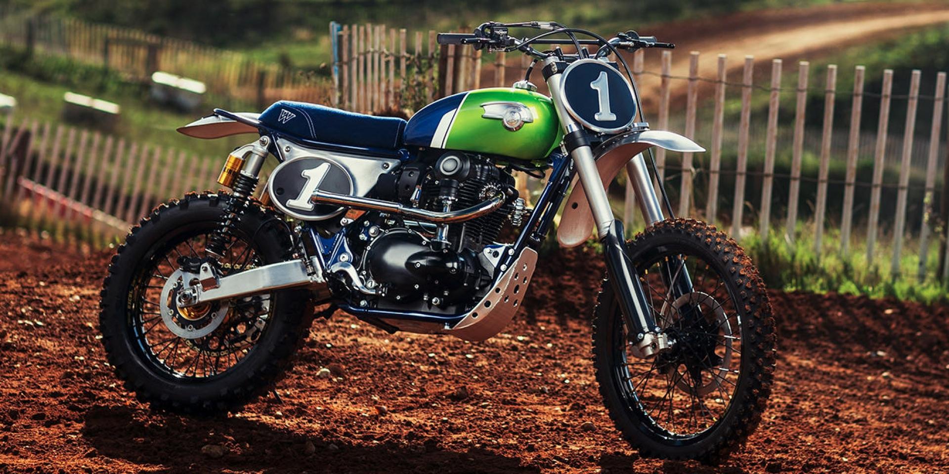 復古車的老派越野風。Kawasaki W800 cross by.MRS Oficina
