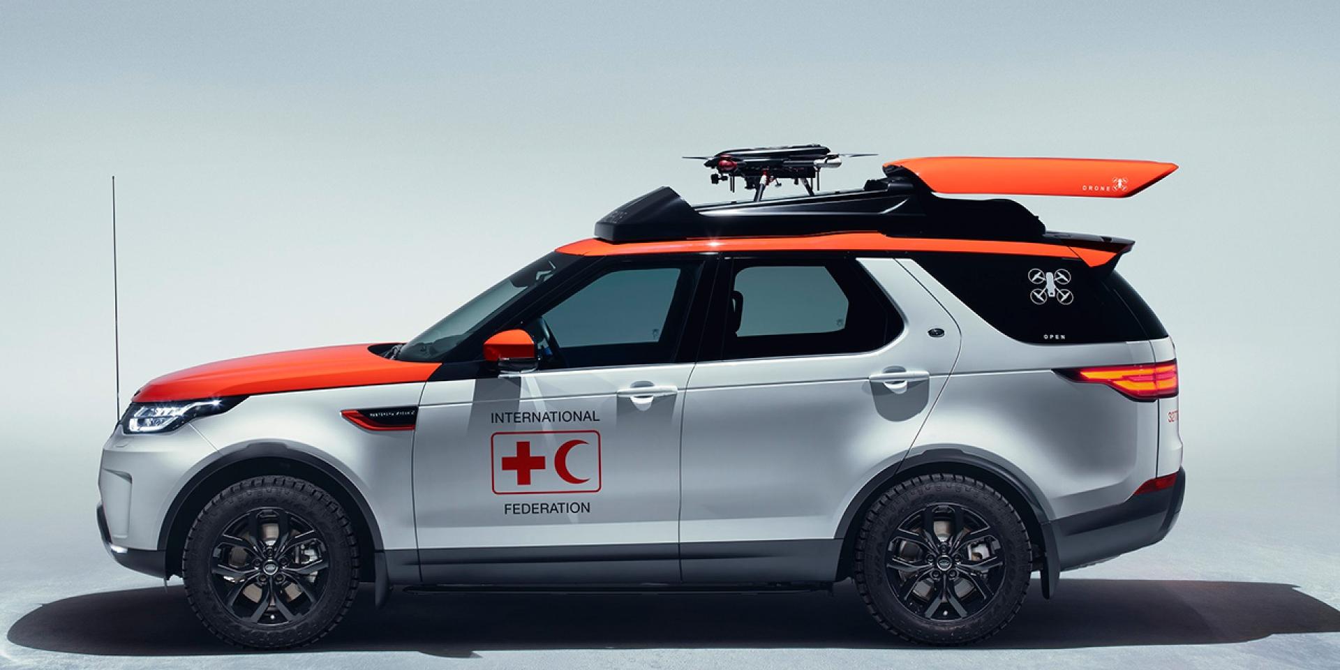 標配空拍機的救難SUV!Land Rover All-New Discovery Project Hero