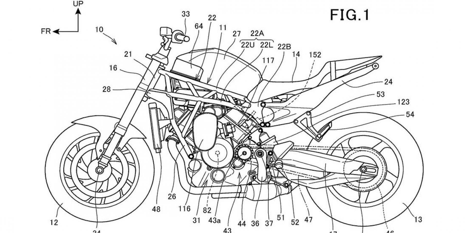 Z H2的對手?HONDA V缸增壓街車專利更新!