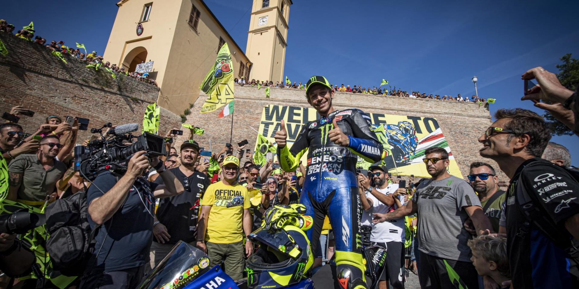 故鄉英雄!主場之戰,Valentino Rossi從家鄉Tavullia出發!
