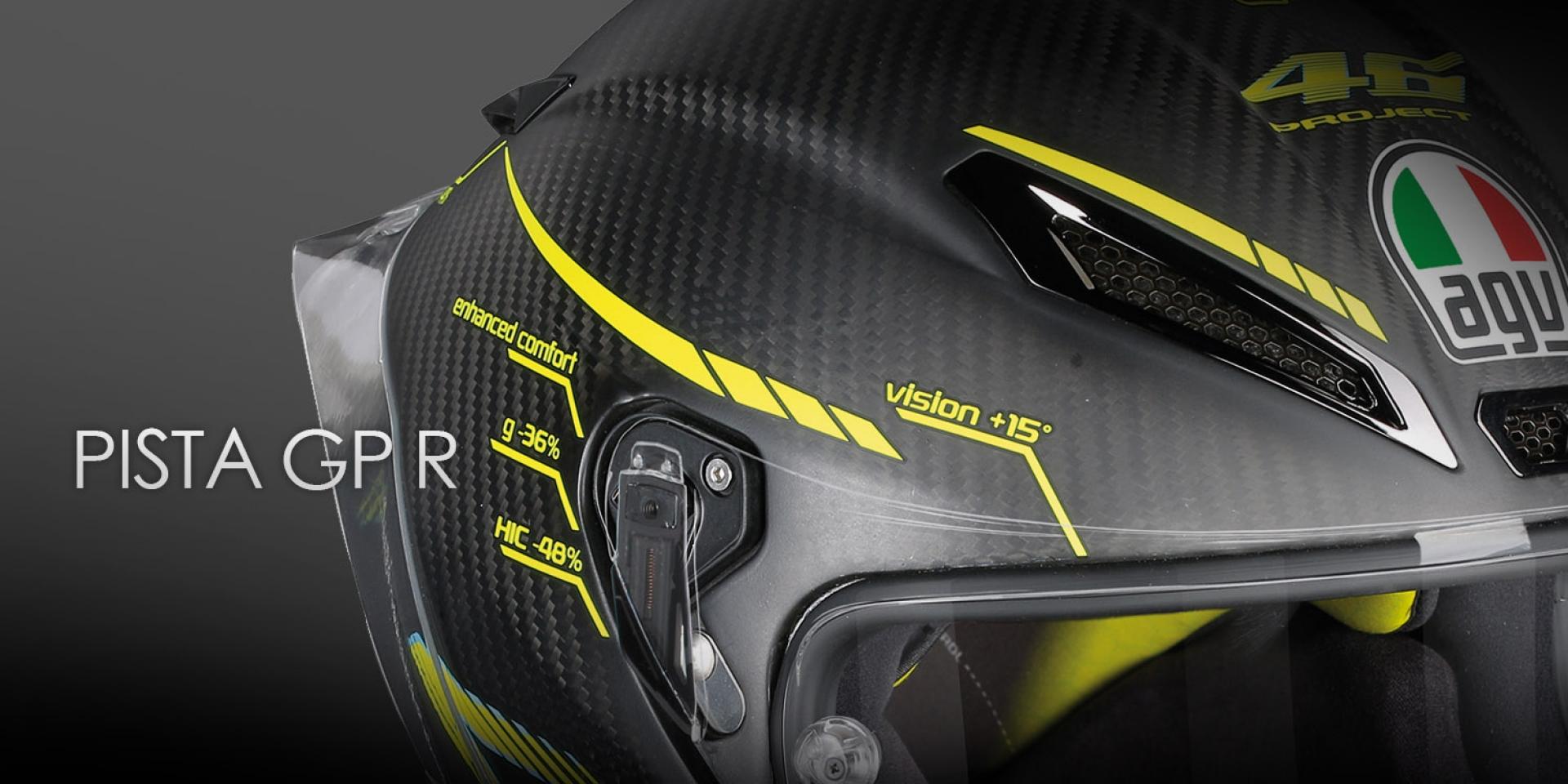 為賽道而生。AGV全新競賽級安全帽PISTA GP R