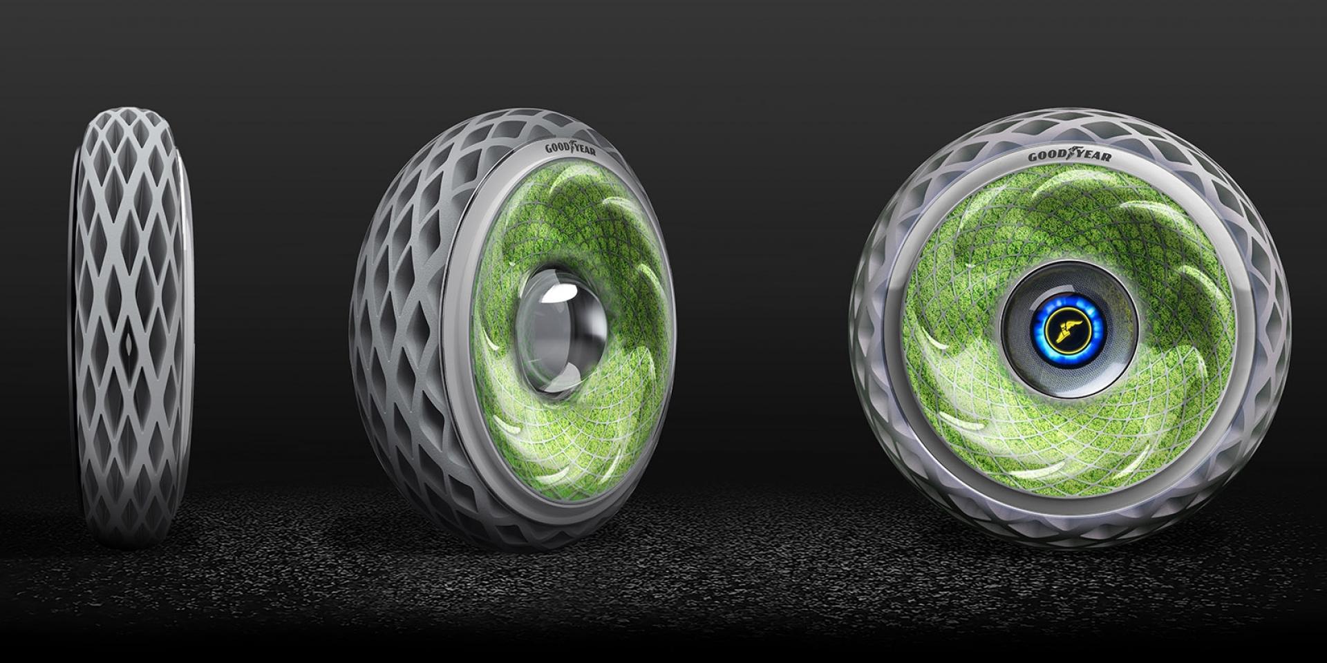 未來輪胎再一發,GOODYEAR氧氣概念輪胎。