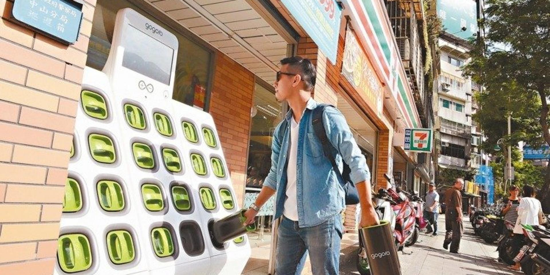 巷口就有電池交換站,換電池比加油還要方便