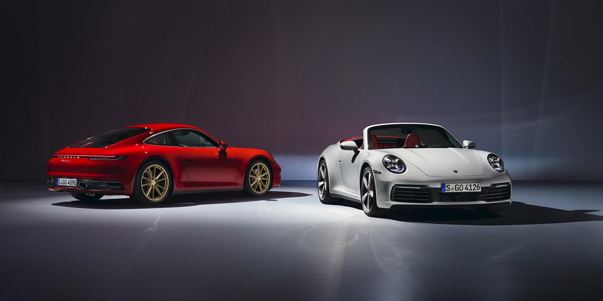 官方新聞稿。第八世代911家族新成員入列 保時捷隆重推出全新911 Carrera 及911 Carrera Cabriolet
