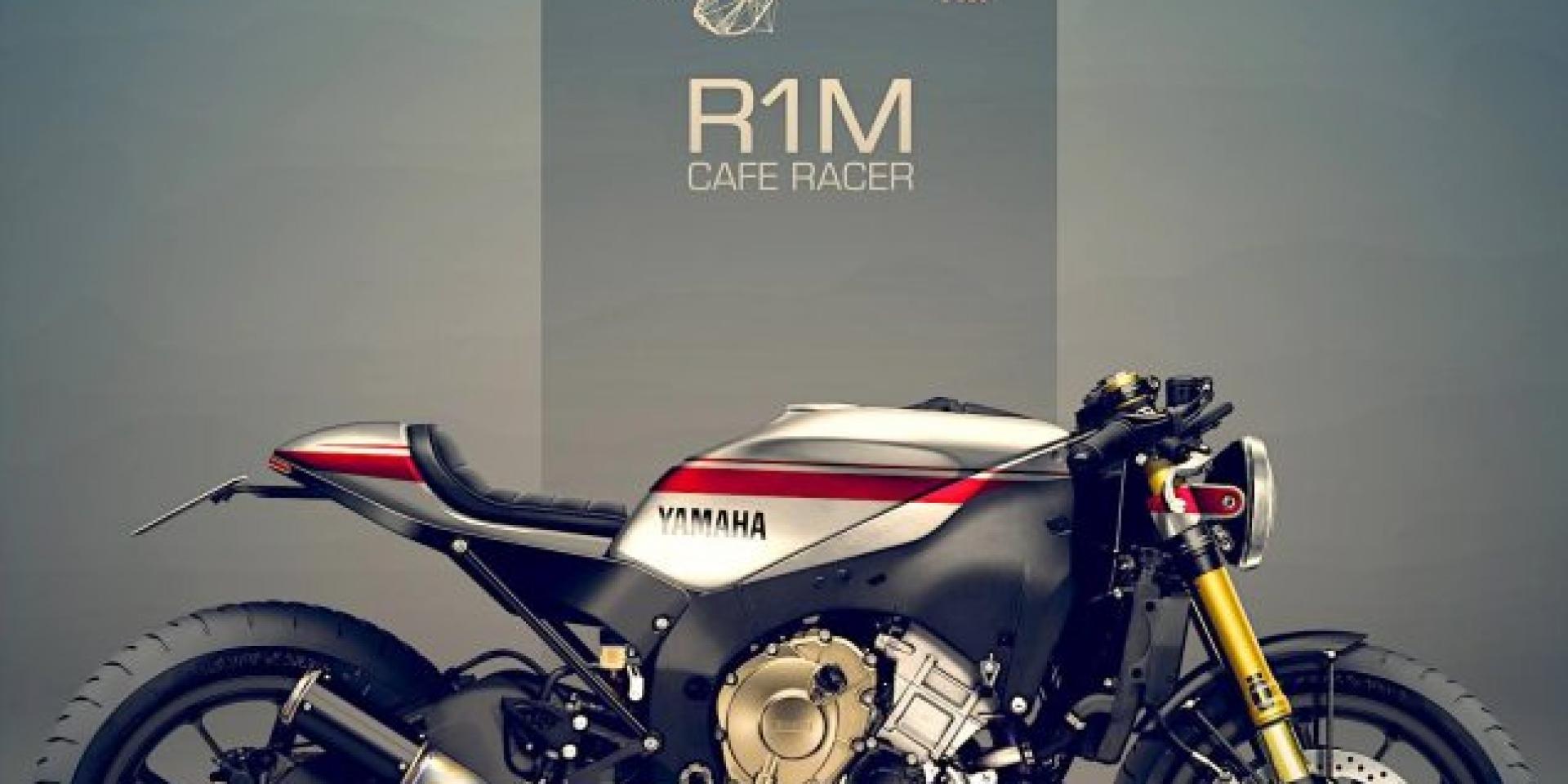 等一群人,咖啡-YAMAHA R1M Café Racer by Holographic Hammer