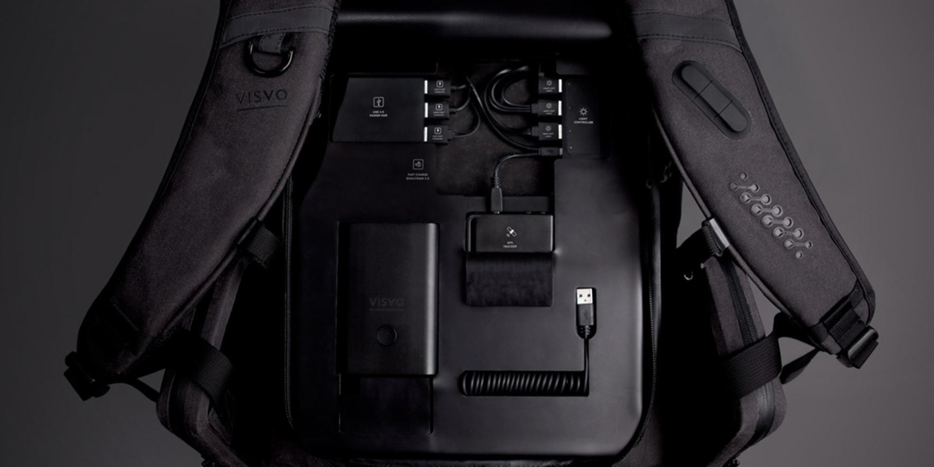 背包也能玩科技!Visvo Novel騎士背包