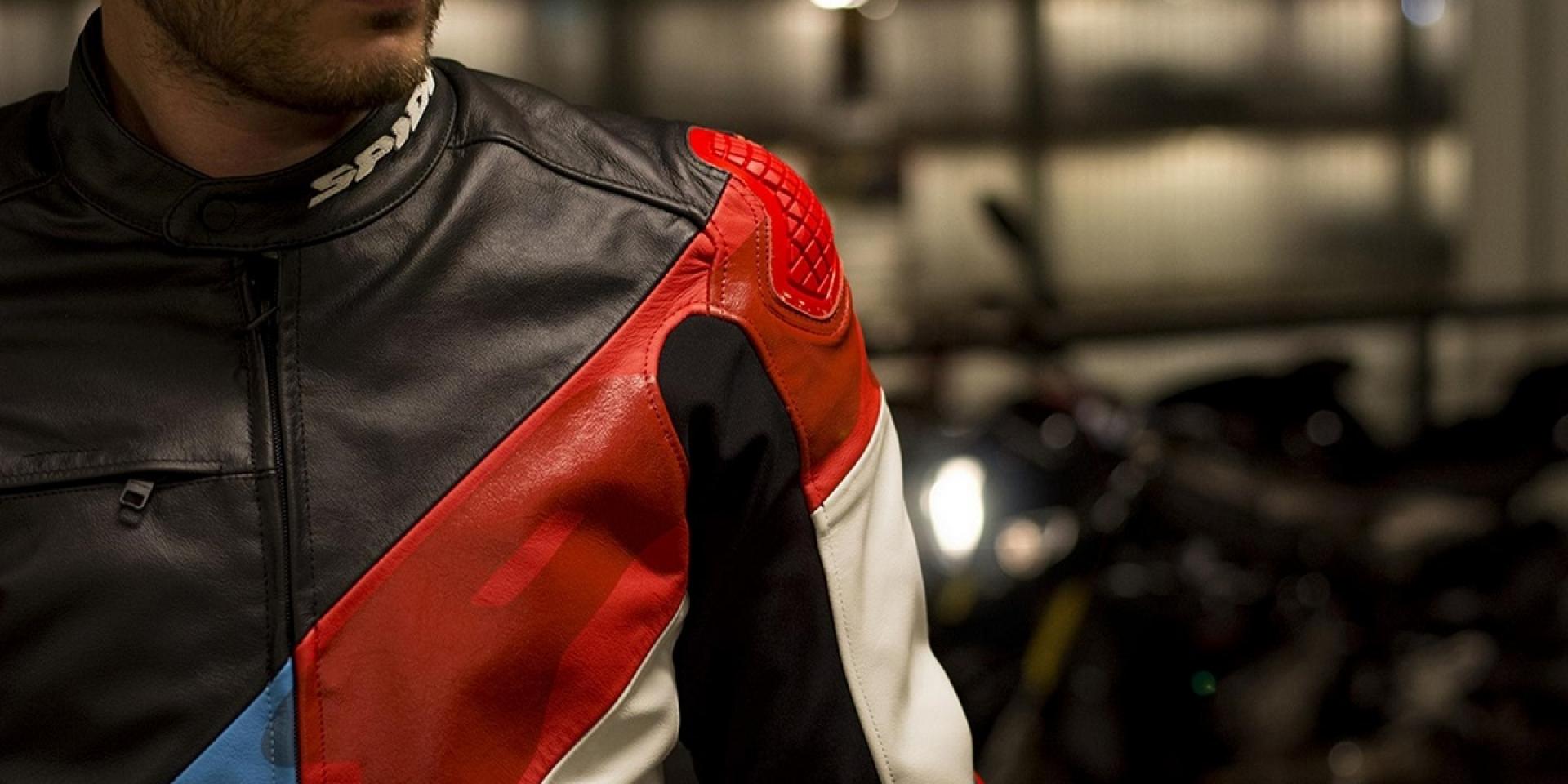 復古外型+先進護具。SPIDI SUPER R復古皮衣