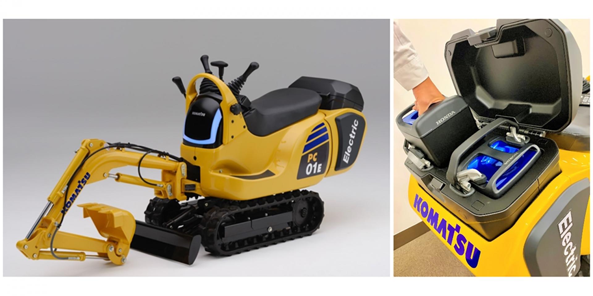 不只換電機車,HONDA與KOMATSU聯合開發「PC01 換電挖土機」!