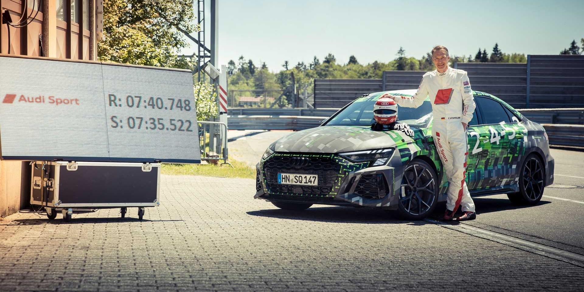 Audi RS3奪下最速Compact Car頭銜!紐伯林成績7:40.748!