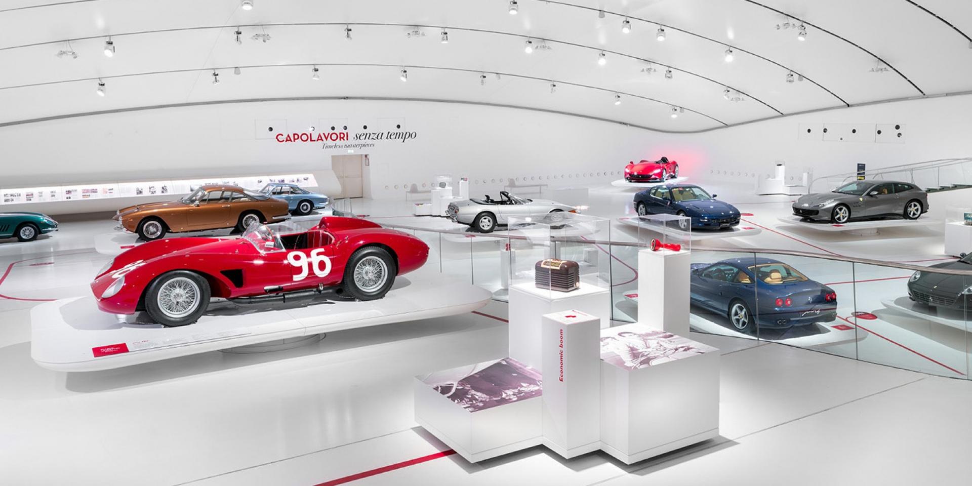 官方新聞稿。The Enzo Ferrari Museum恩佐.法拉利博物館 — 「永恆的傑作」展覽