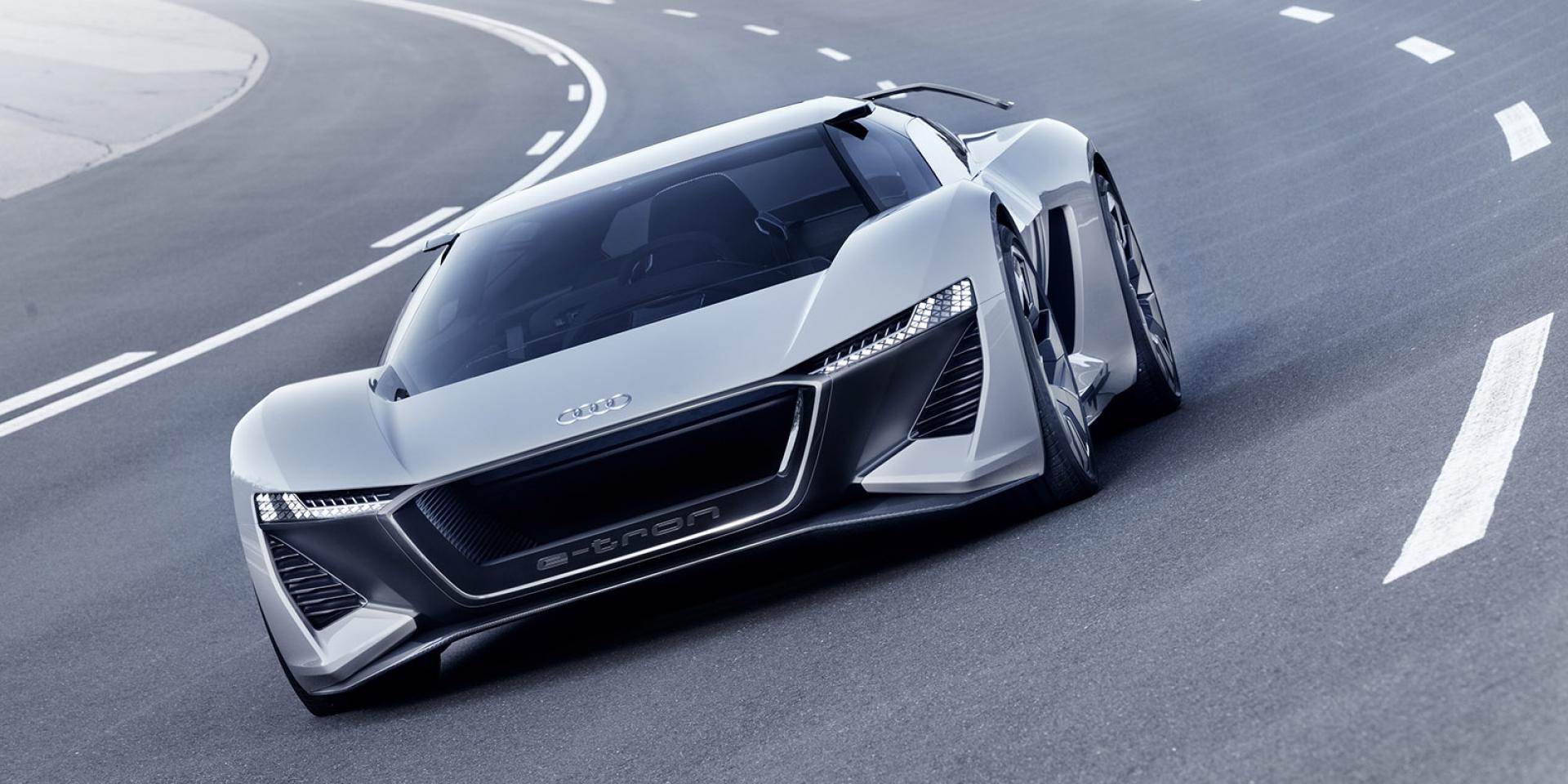 官方新聞稿。Audi PB 18 e-tron 純電概念超跑 顛覆未來純電競速想像 2018美國圓石灘車展全球正式發表