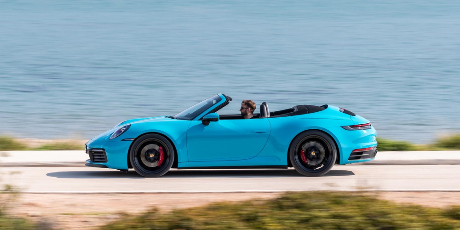 官方新聞稿。全新Porsche 911 以多種材質製成 更輕盈、更穩定。911 Cabriolet 採全新複合組件