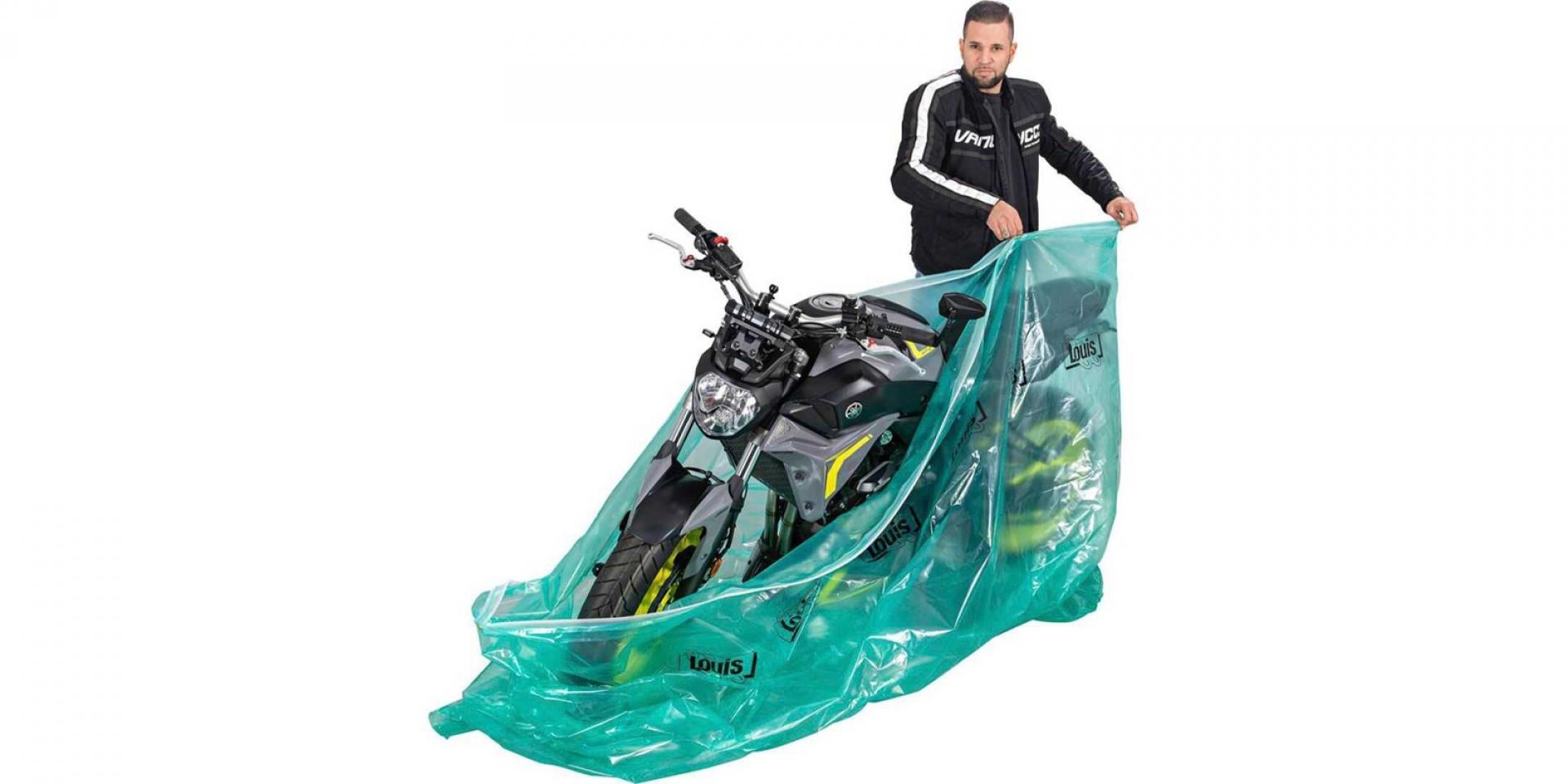 機車防鏽夾鏈袋!Louis Moto VCI折疊式車庫。