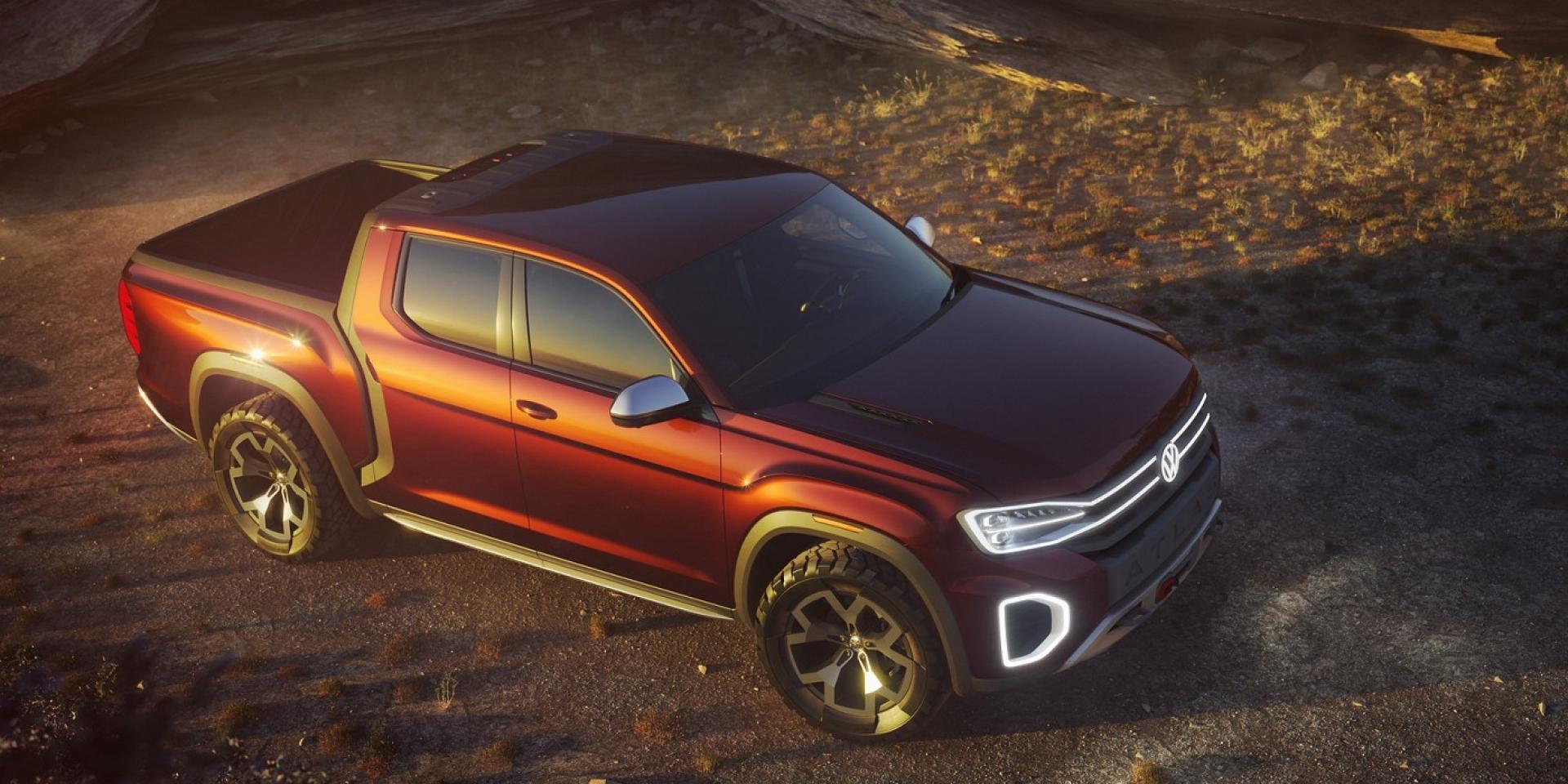 搭載MQB底盤,VW  Atlas Tanoak 概念貨卡有望量產!