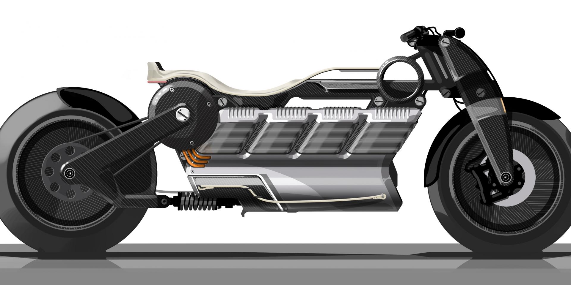 V8風潮不滅,Curtiss Hera V8電動機車!