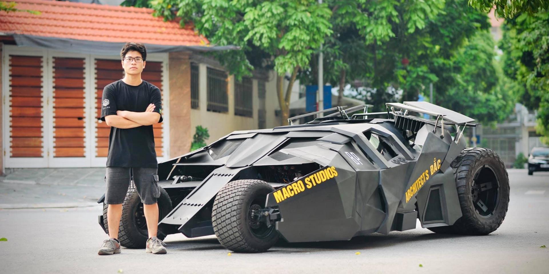 蝙蝠俠忠實粉絲!越南狂人從零打造蝙蝠車!