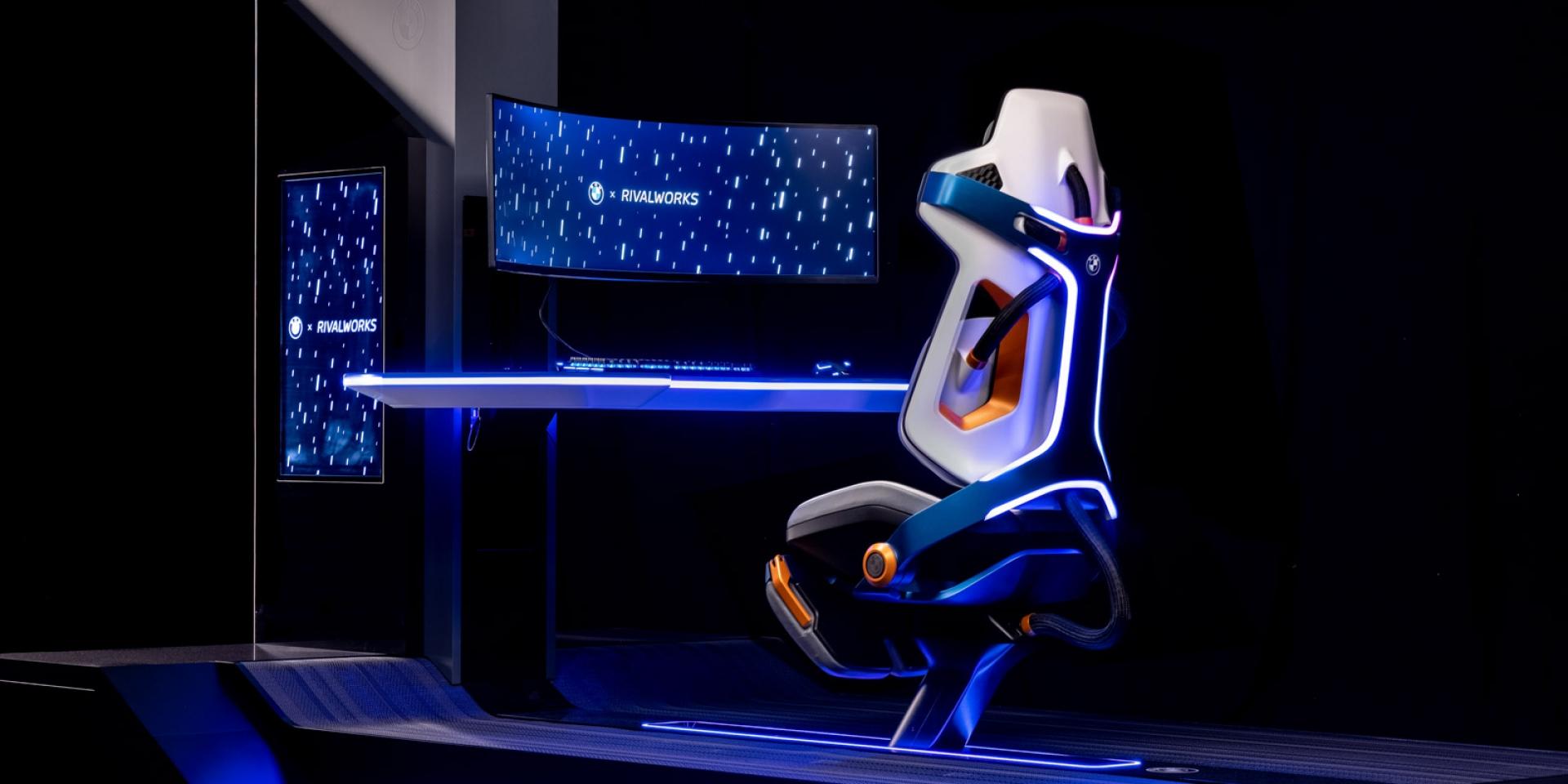 在家也坐BMW 還有通風椅墊?BMW展示概念電競椅