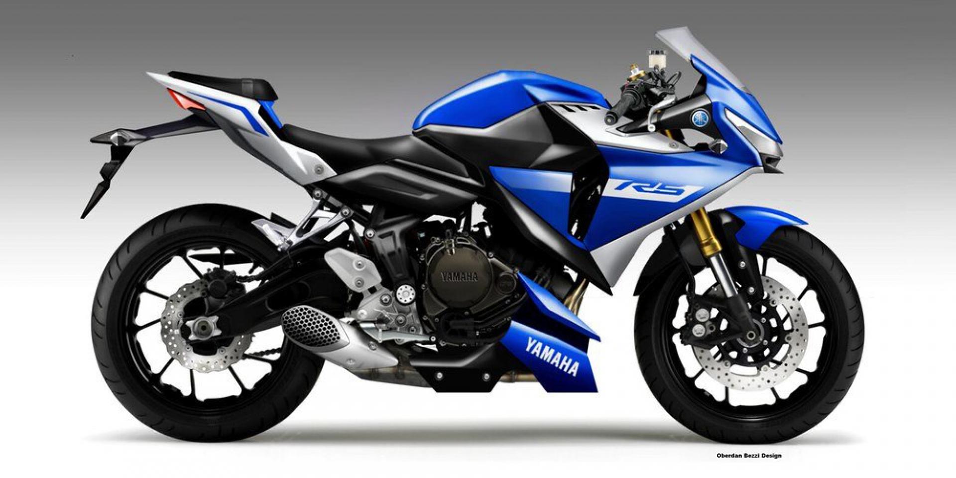 「Yamaha YZF-R5 Concept」by Oberdan Bezzi。排量升級的美好夢想!