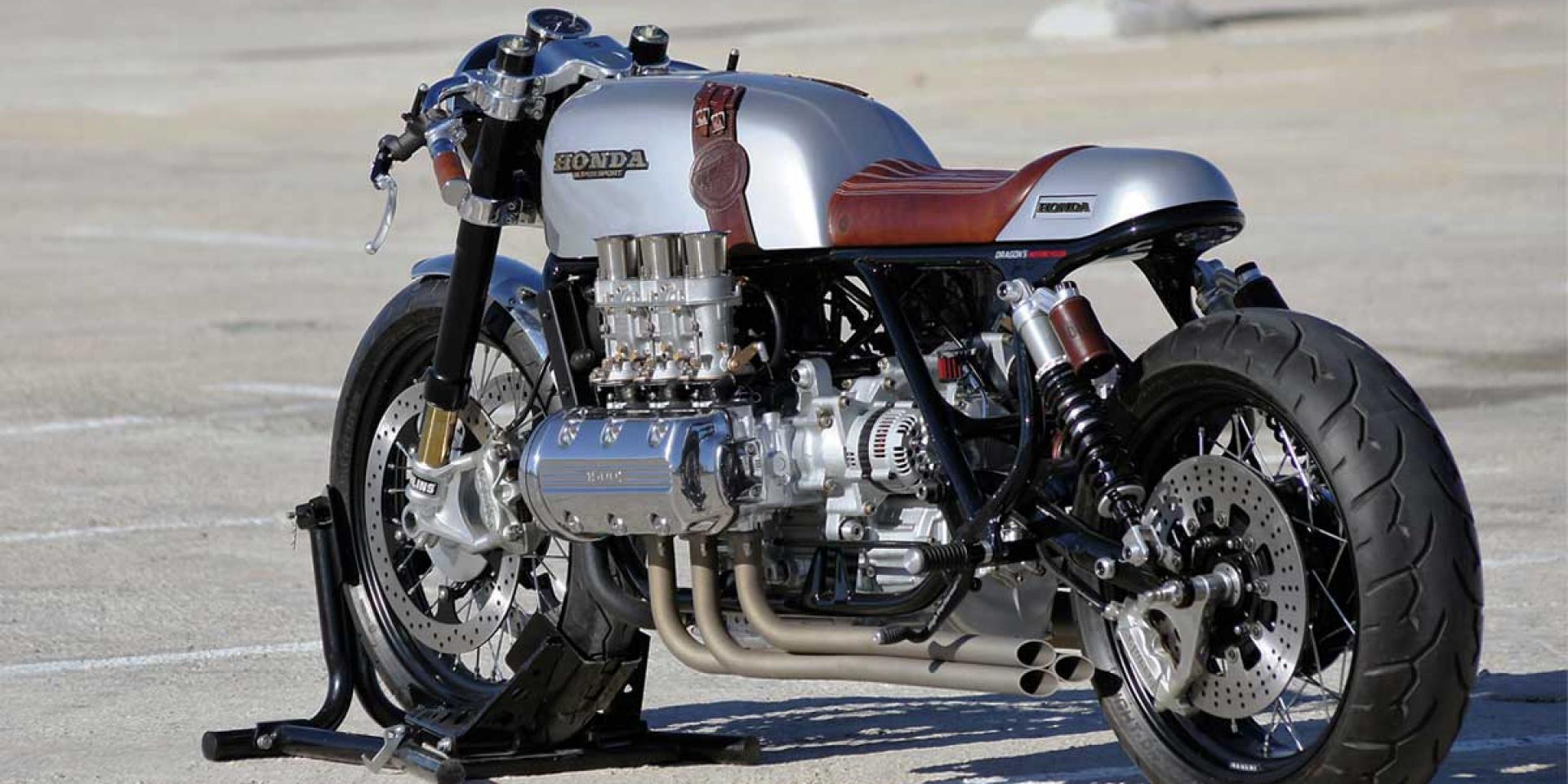 特大杯六缸咖啡。HONDA「GOLDWING Cafe Racer」by.Dragon's Motorcycles