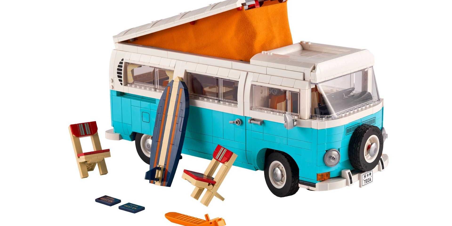 Volkswagen T2 Camper Van露營車樂高組 可掀式車頂超吸睛!
