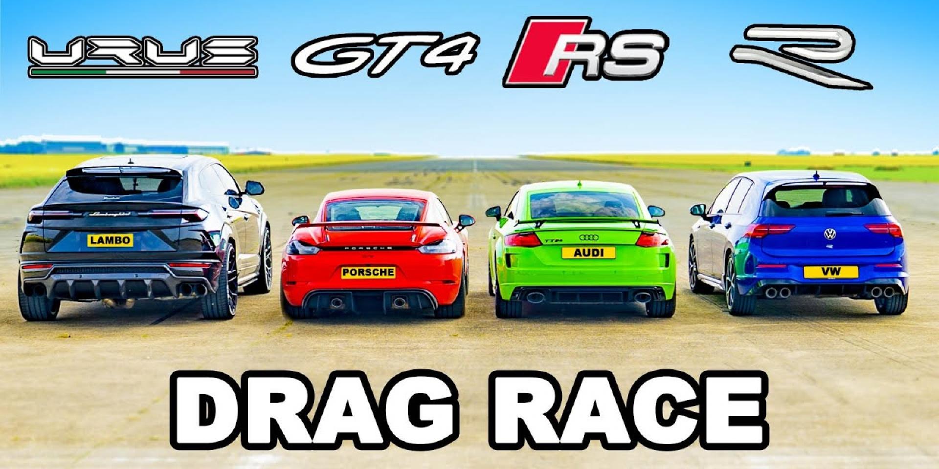 汽缸越多越會跑?Urus、Cayman GT4、TT RS、Golf R的異種格鬥戰!