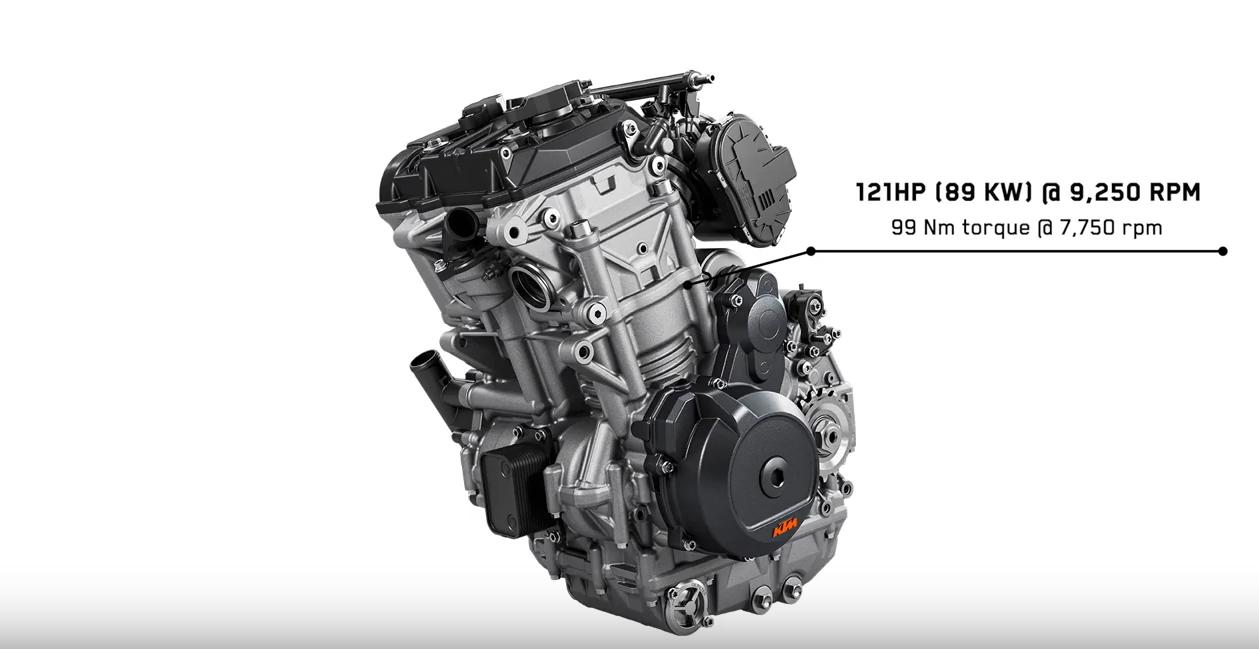 排氣量提升後的LC8c並列雙缸引擎,擁有121HP最大馬力和99Nm最大扭力