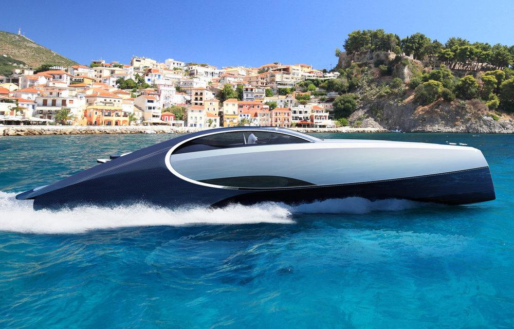 全新的Bugatti Niniette 66則是找來知名的遊艇製造商Palmer Johnson合作開發,由Palmer Johnson負責船體製作與系統整合,動力方面則是採用與Bugatti同屬VAG集團的MAN V8引擎
