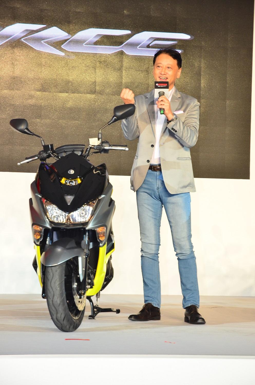 台灣山葉機車工業股份有限公司的總經理武田真二,親自介紹FORCE 155並分享自己的騎車經驗