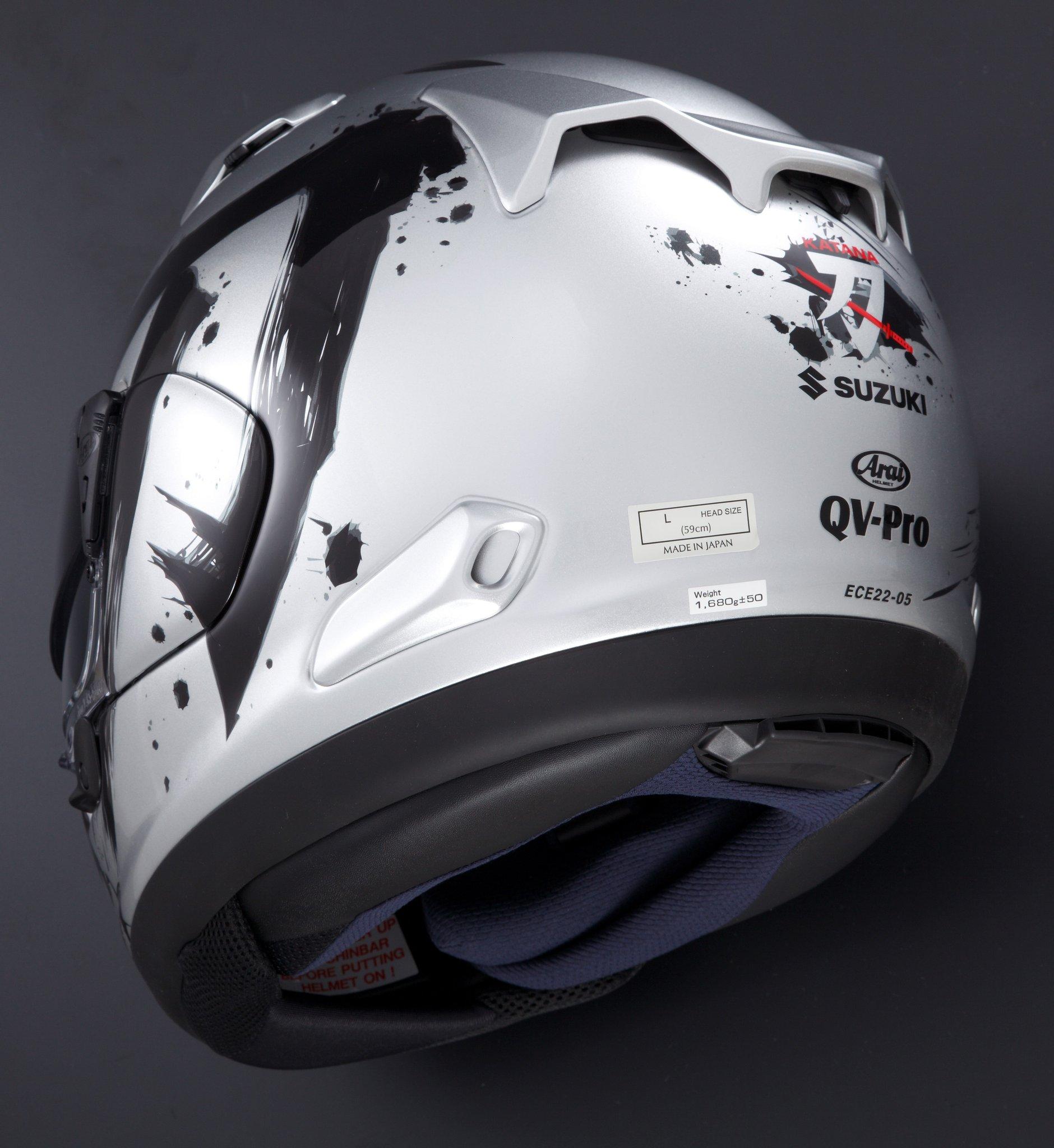 該頂安全帽在台灣的名稱為ASTRAL X,但在海外的名稱則是QV-Pro