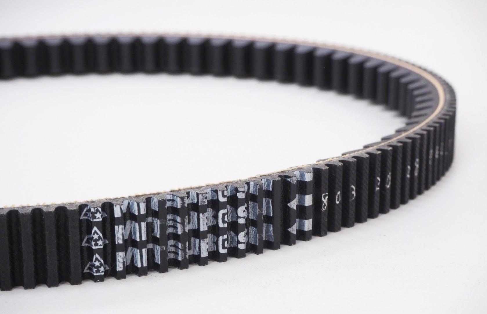雙面齒型皮帶 (Double Cog Varible Speed V-belt , DCVS) 採用Kevlar杜邦防彈背心材質 (國內同級車唯一)